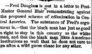 newspaper-clipping-about-frederick-douglass's-opposition-to-african-american-colonization