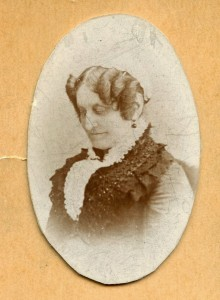 photograph of a woman looking down