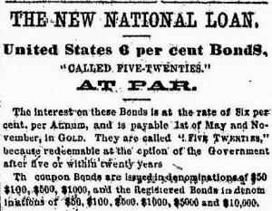 Newspaper ad for 6% bonds