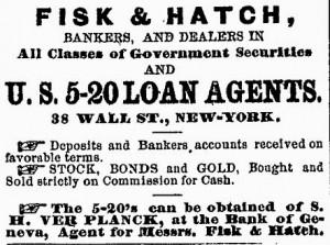 Ad for 5-20 Bond program.