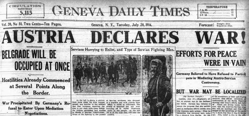 newspaper-headline-austria-declares-war