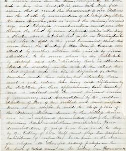 A Seneca Castle miller writes about Abraham Lincoln's assassination.