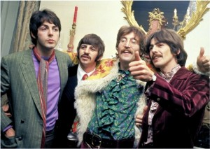 Colored image of the Beatles, 1967