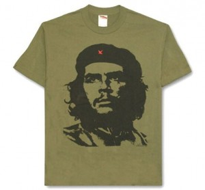 Colored image of Che-Guevara T-shirt