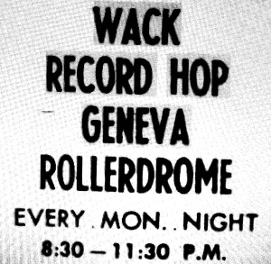 Geneva Times ad from July 13, 1960 for a Record Hop at the Geneva Rollerdrome
