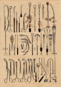 A page from a text of vintage surgery tools