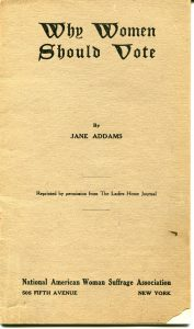 """cover the pamphlet """"Why Women Should Vote"""" by Jane Addams"""