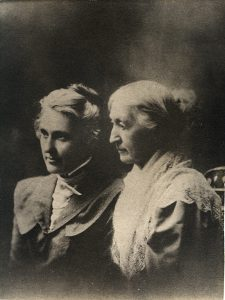 profile of two women
