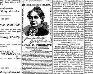 Ad for Lydia Pinkham's Vegetable Compound