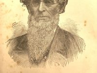 Illustration from a book of a man with a long beard and small eyeglasses.