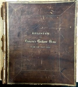 """cover to """"Register of Geneva's Gallant Sons War of 1917-1919"""""""