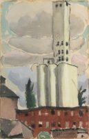 watercolor-of-old-grain-storage-tower