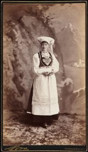 woman in a costume