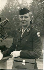 woman in a Red Cross uniform