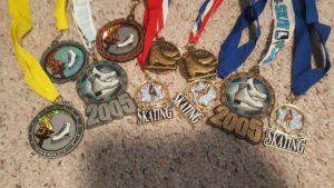 Various skating medals