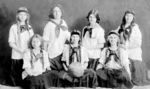 posed photo of basketball team made up of young ladies