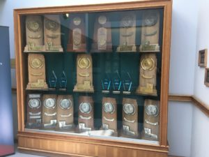 Case filled with trophies