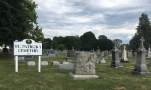 view-of-headstones-in-st-patricks-cemtery