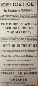 ad from the Geneva Gazette dated December 5, 1879