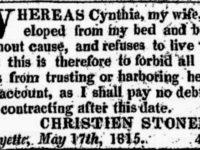 1815 Geneva Gazette Ad