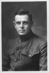 young man in a World War I uniform