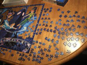 A jigsaw puzzle in progress