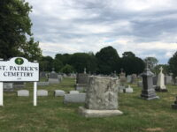 St Patricks Cemetery Sign And Grave Stones