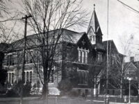Two Story School Building With Spire