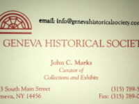 White Business Card With Red Printing