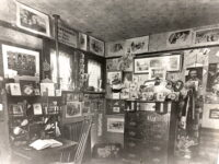 Cluttered College Student Room In Late 1800s