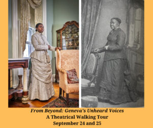 19th Century photo of a woman and a 21st century recreation of the same photo